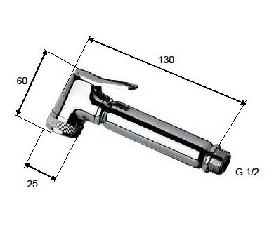 Hand Held Bidet IT101C technical drawing